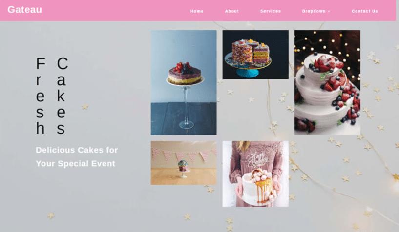 Gateau - free restaurant website template