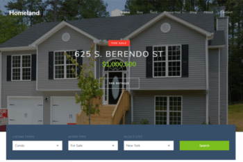 Homeland – Bootstrap 4 HTML5 Real Estate Website Template