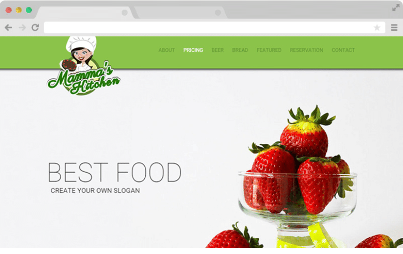 Mammas Kitchen - a free restaurant website template