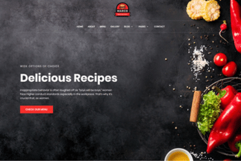 Marco – Free Responsive Restaurant Template
