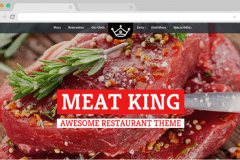 Meatking – A Free Restaurant Website Template