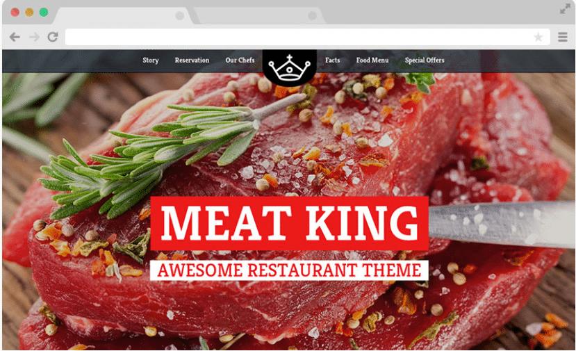 Meatking - a free restaurant website template