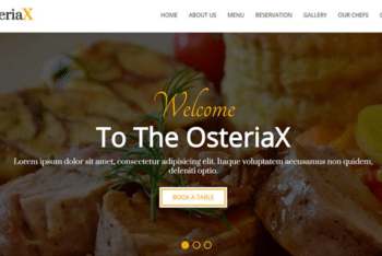 Osteriax – Free Restaurant Template to Download