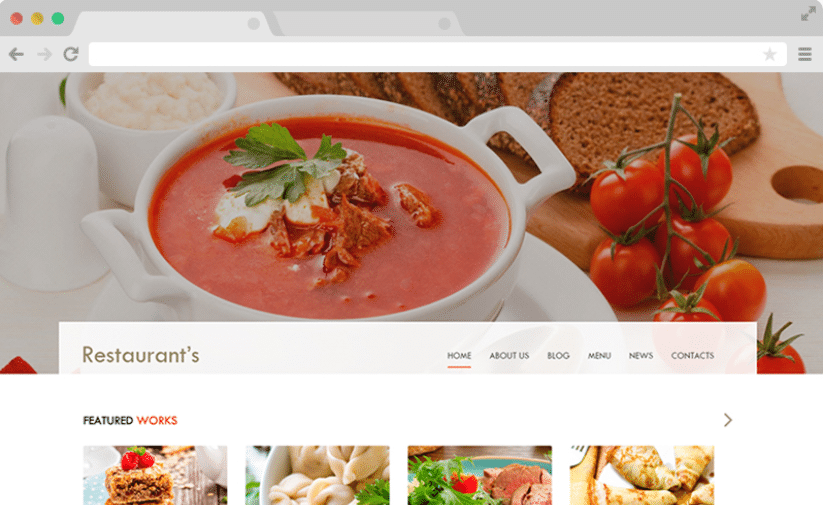 Spicy - free restaurant website template