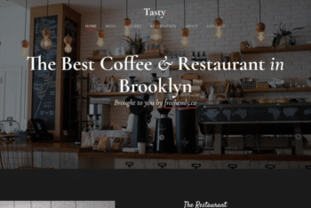 Tasty – Free Restaurant Cafe Website Template