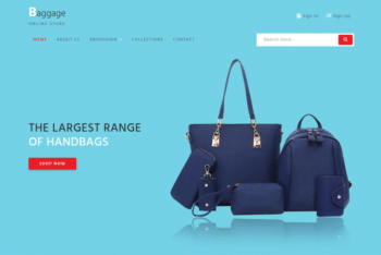 Baggage – A Free Bag Collection Ecommerce Website Template
