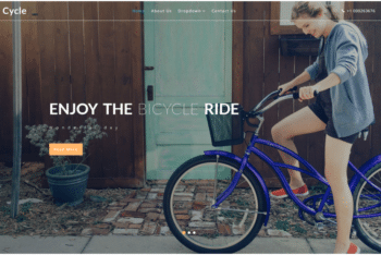 Cycle – Cycling Group Website Template for Free