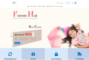 Fashion Hub – An Ecommerce Website Template for Ecommerce Fashion Company