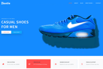 Bootie – Ecommerce Shoe Store Template for Free