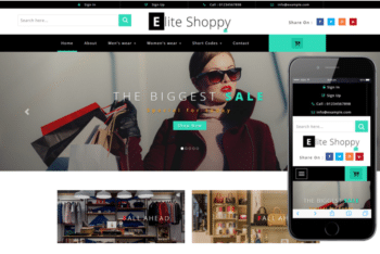 Elite Shoppy – A Free eCommerce Category Website Template