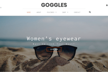 Goggles – A Clean & Professionally Crafted Ecommerce Website Template