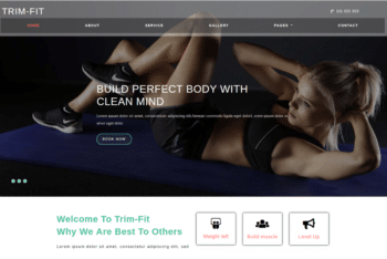 Trim Fit – Free Fitness Website Template