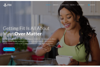 Fitness Health – An HTML Fitness Website Template for Free