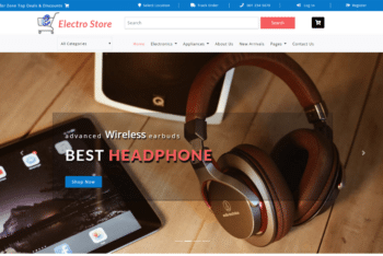 Electro Store – Ecommerce Website Template for Online Electronic Products Store