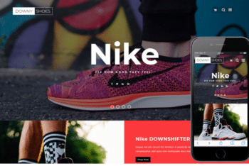 Downy Shoes – An Ecommerce Footwear Website Template for free