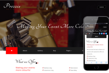 Prezzie – Online Shopping Category Website Template