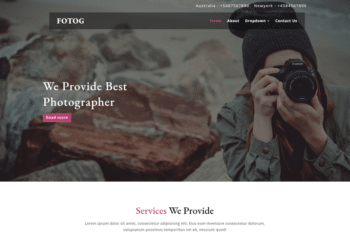 Fotog – Photography Website Template for Free