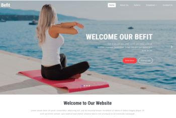 Befit – A Sports Category Website Template for Free