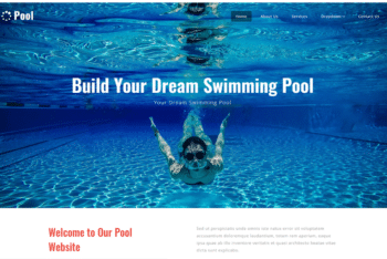 Pool – A Fully Responsive & Free Swimming Pool Website Template