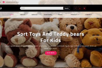 Toys Shop Ecommerce Website Template for Free