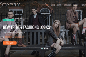 Trendy Blog HTML Template for Lifestyle & Fashion Blogs