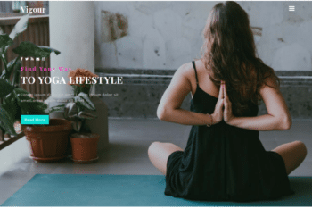 Vigour – A Free Yoga Lifestyle Website Template
