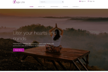 Yoga Lite – A Responsive Yoga Themed Website Template
