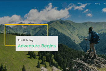 Adventure – Travel Category Web Template