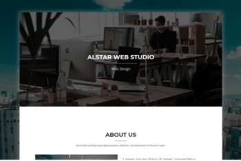 Alstar – Simple Portfolio Website Template with Parallax