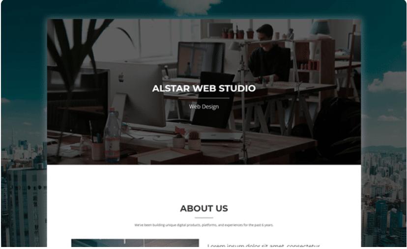 Alstar - simple portfolio website template with parallax