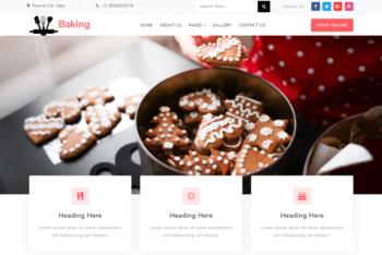 Baking – Responsive Restaurant Web Template
