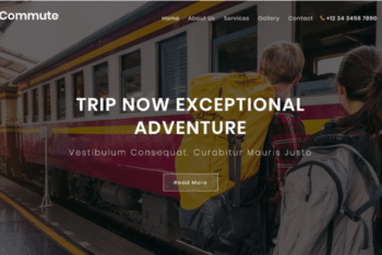 Commute – Travel Category Website Template