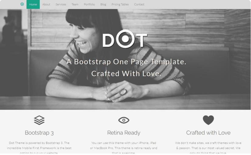 Dot - simple portfolio website template