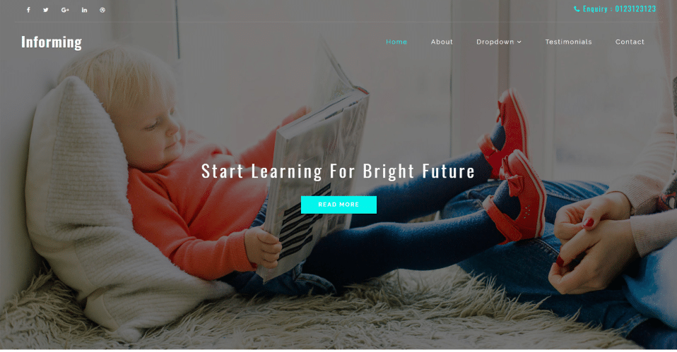 Informing - Education Web Template