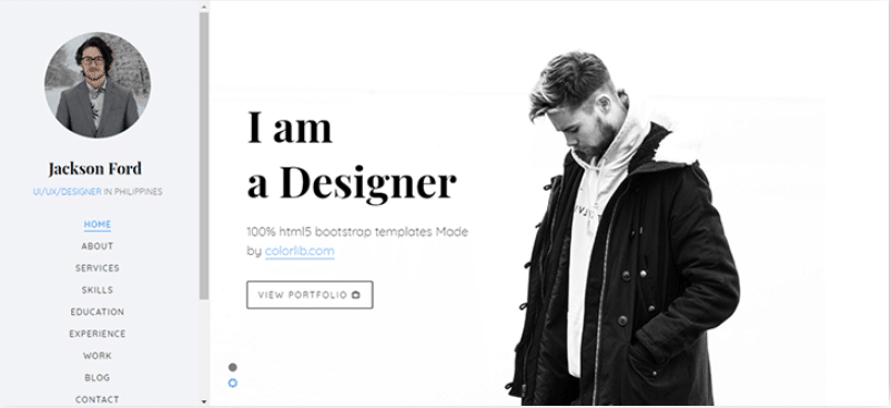 Jackson - free portfolio website template