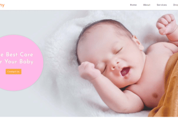 Nanny – People Category Bootstrap Website Template