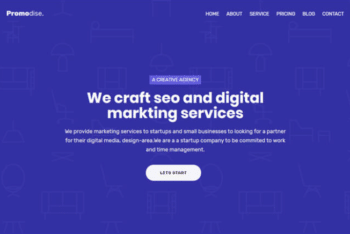 Promodise – Bootstrap 4 Agency Web Template