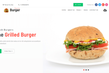 Tasty Burger – Restaurant Category Bootstrap Web Template