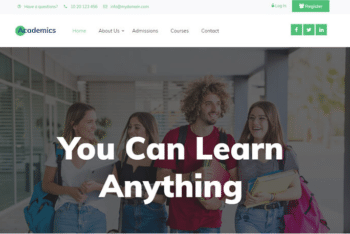 Academics – Free Bootstrap Education Website HTML Template