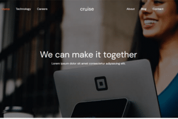Cruise – Free Bootstrap HTML Web Template