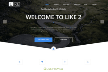 Like – Free Bootstrap Business Website Template