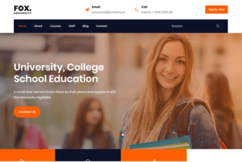 Fox – Free HTML Template for Education Websites