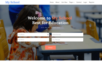 My School – Free Education Website HTML Template