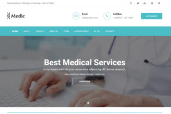 Medic – Free Responsive Medical Website HTML Template