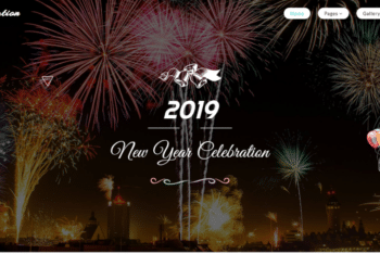 New Year Celebration HTML Template for Free