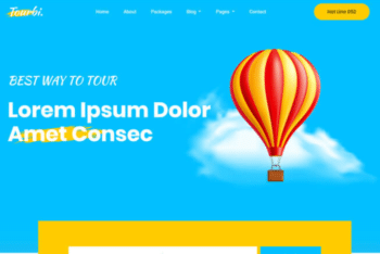 Tourbi – Free Travel Agency Website Template Download