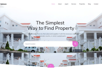 Uptown – Free Real Estate Website Template