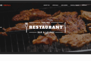 TheGrill – Free Restaurant-themed Website Template