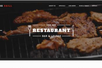 TheGrill – Free Restaurant-themed Website Template