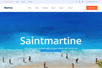 Martine – Free Travel Website Template with Bootstrap Framework